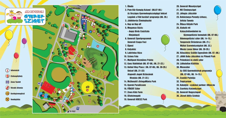 Gyerek Sziget térkép